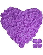 3000pcs Rose Flower Petals for Weddings, Silk Rose Petal, Tasteless Artificial Silk Flower Petals, Rose Petal Table Decoration for Valentine's Day, Wedding Aisle, Bed,Party,Bath