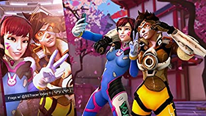 Amazon Com Xxw Artwork Overwatch Poster All Heroes Full Role Tracer