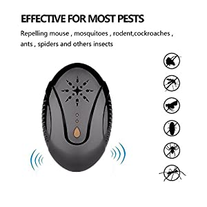 Babigo Ultrasonic Pest Repeller, Pest Repeller Plug-in Pest Control Ultrasonic Insect Repellent for Cockroach, Mice, Rodents, Spiders, Flies, Moquitos, Ants, Fleas