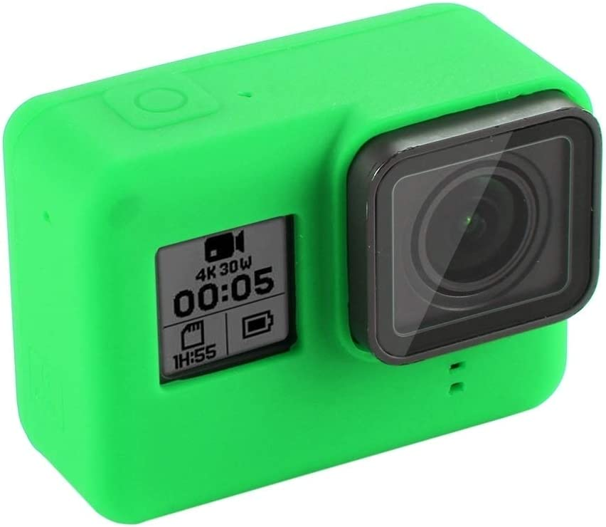 Color : Green MEETBM ZIMO,Silicone Protective Case with Lens Cover for GoPro HERO7 Black //7 White 7 Silver //6//5 Black