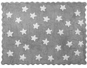 Aratextil eden alfombra infantil algod n gris 120x160 for Alfombra 120x160