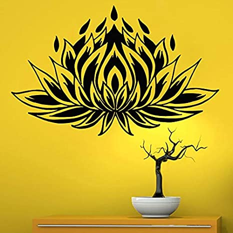 Yoga Club Sticke Lotus Decal Posters Vinyl Wall Decals ...