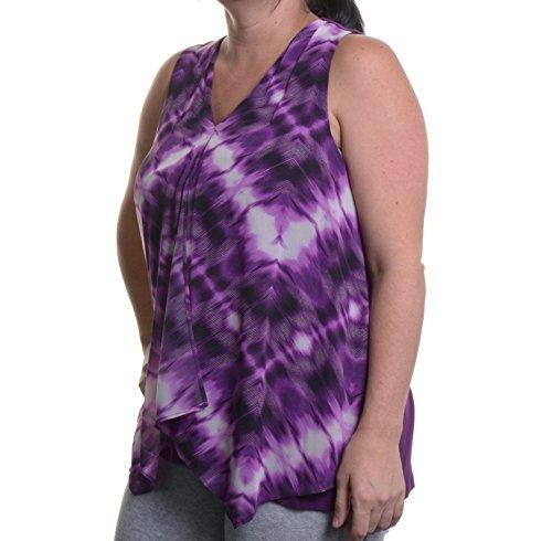 Ellen Tracy Medallion-Print Faux-Wrap Top Size S