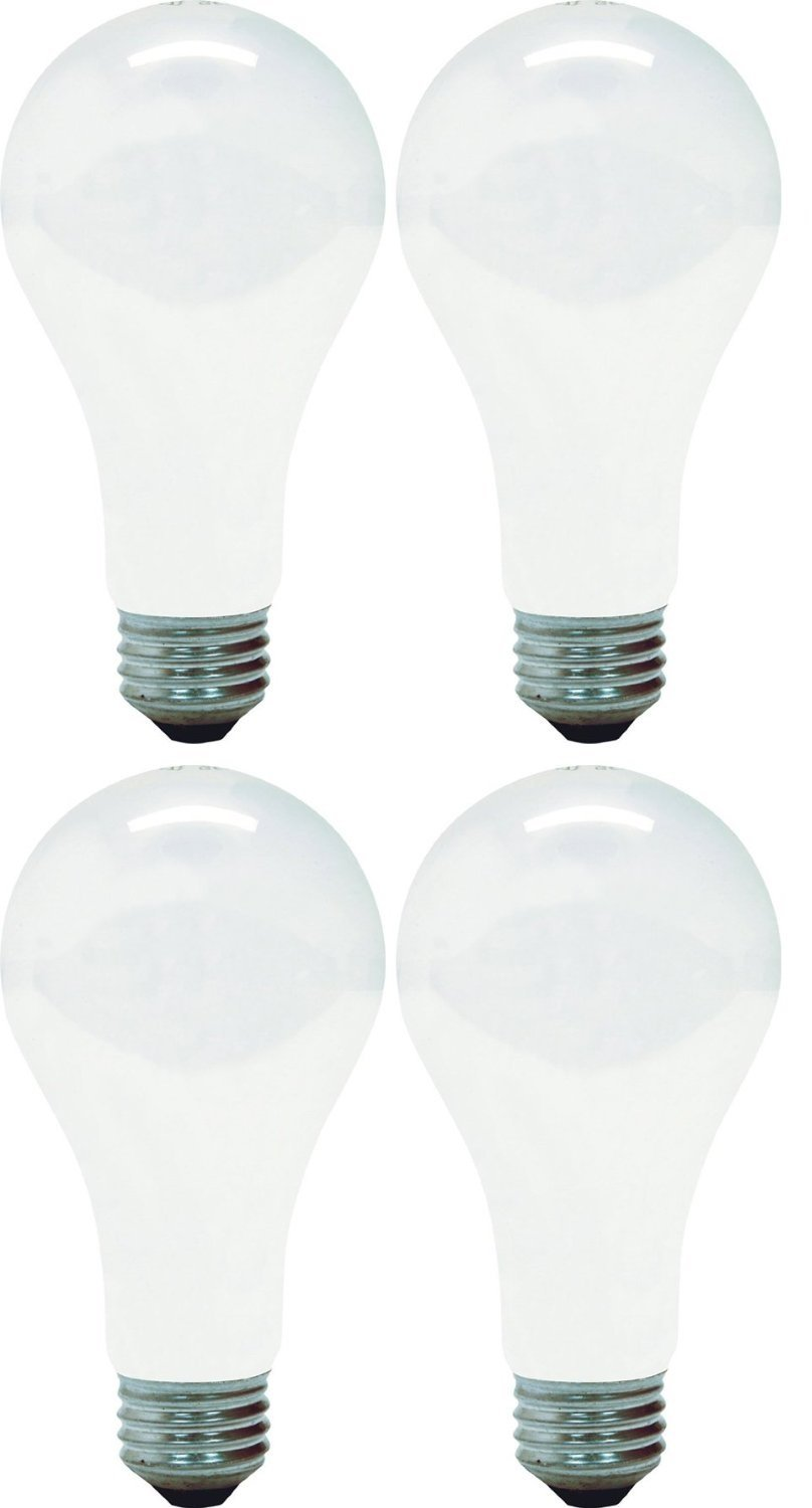 GE Lighting 10429 150-Watt A21 Light, Soft White (Pack of 4)