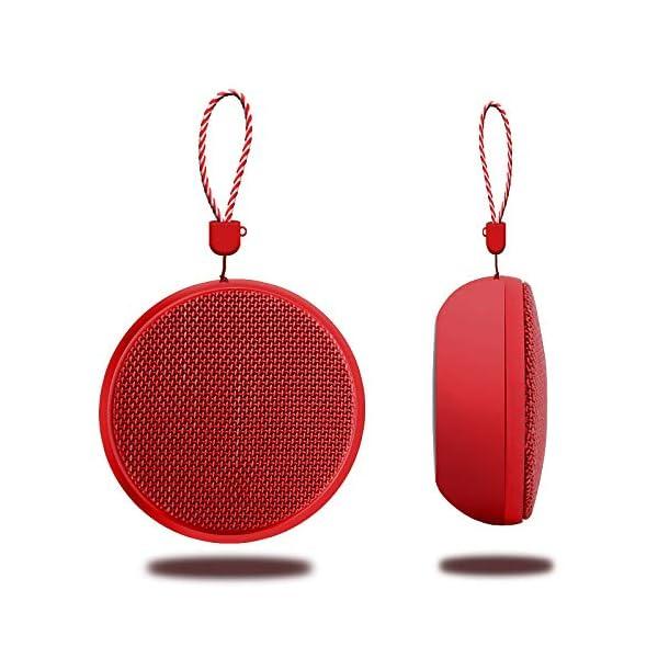 Enceinte Bluetooth Enceinte sans Fil Bluetooth pour Extérieur avec Lanière Mini Haut-Parleur Bluetooth Anti-Goutte 9 * 9 * 5 Cm D 1