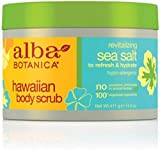 scrub Alba Botanica Hawaiian, Sea Salt Body Scrub, 14.5 Ounce