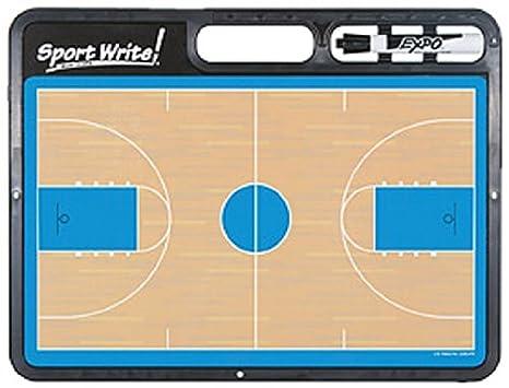 Sport Write Pro Tabla de borrado en seco para baloncesto (con ...