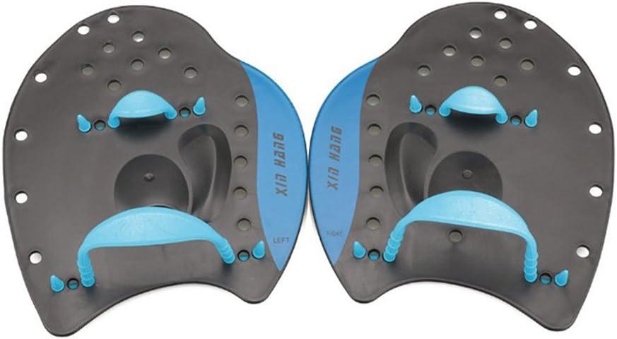 WINOMO 1 Pair Swim Paddle Hand Paddle for Training Swimming Beginners Adults Children Size M Blue