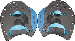 WINOMO 1 Paire Pagaie Paddle Main Paddle pour Entraînement Natation Débutants Adultes Enfants Taille L (Bleu)
