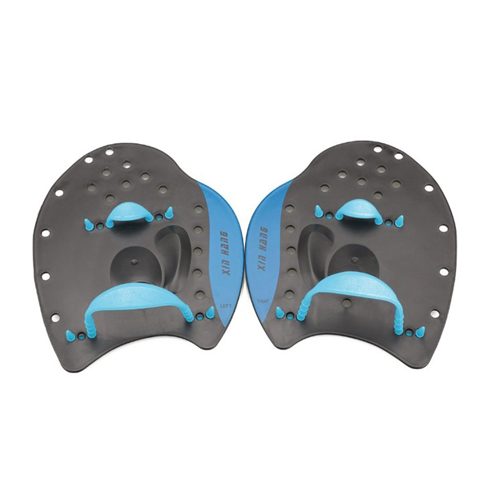 VORCOOL 1 Paar Schwimmen Paddel Hand Paddel f/ür Trainng Schwimmen Anf/änger Erwachsene Kinder Gr/ö/ße S Blau