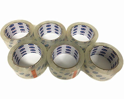 Mistmo 72 Roll 2.6 MIL 2'' X 55 Yards (165' ft) Ultra Premium Tape Heavy Duty Carton Packing Packaging Sealing Tape, Crystal Clear by Mistmo Packaging Solution (Image #4)