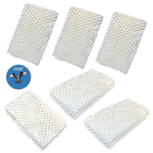 HQRP Wick Filter (6-pack) for IDYLIS 828413B002 Replacement fits IHUM-10-140 / I HUM 10 140 4-Gallon Whole-house Humidifier + HQRP Coaster