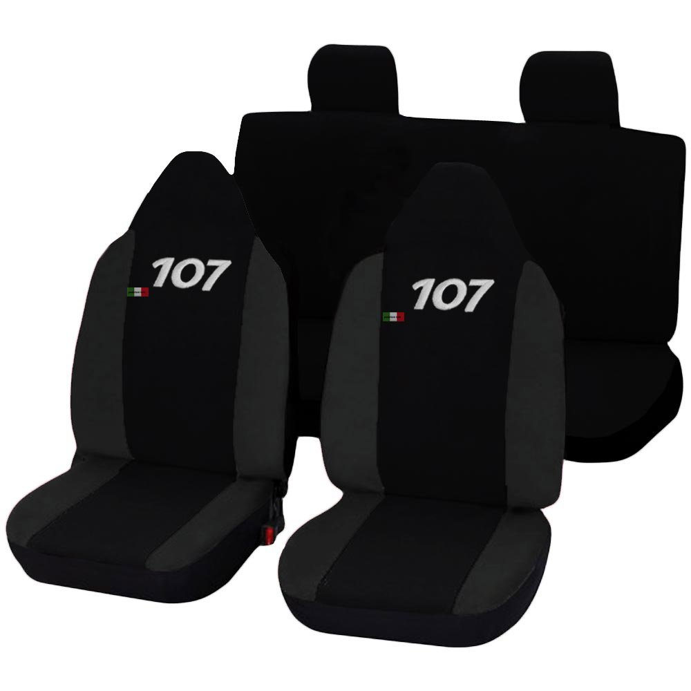schwarz dunkelgrau Lupex Shop 107/_b.gs 107 zweifarbige Sitzbez/üge