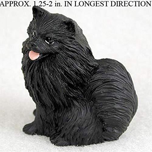 Ky & Co YesKela Pomeranian Mini Hand Painted Figurine Black