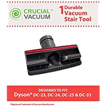 1 Dyson DC23, DC25, DC24, DC27, DC28, DC33, DC41 Replacement Stair and Upholstery Furniture Tool With Red Pet Hair Strips, Generic, Compare to part # 915100-01 and 915100-02, Designed and Engineered by Crucial Vacuum