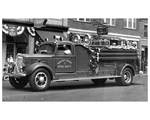 1942 White Oren Fire Truck Photo Mount Hope New - Hope New Jersey Mount