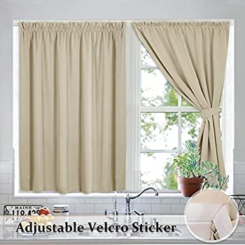 Ryb home velcro window shades for back door curtains noise reducing cost saving drapes without