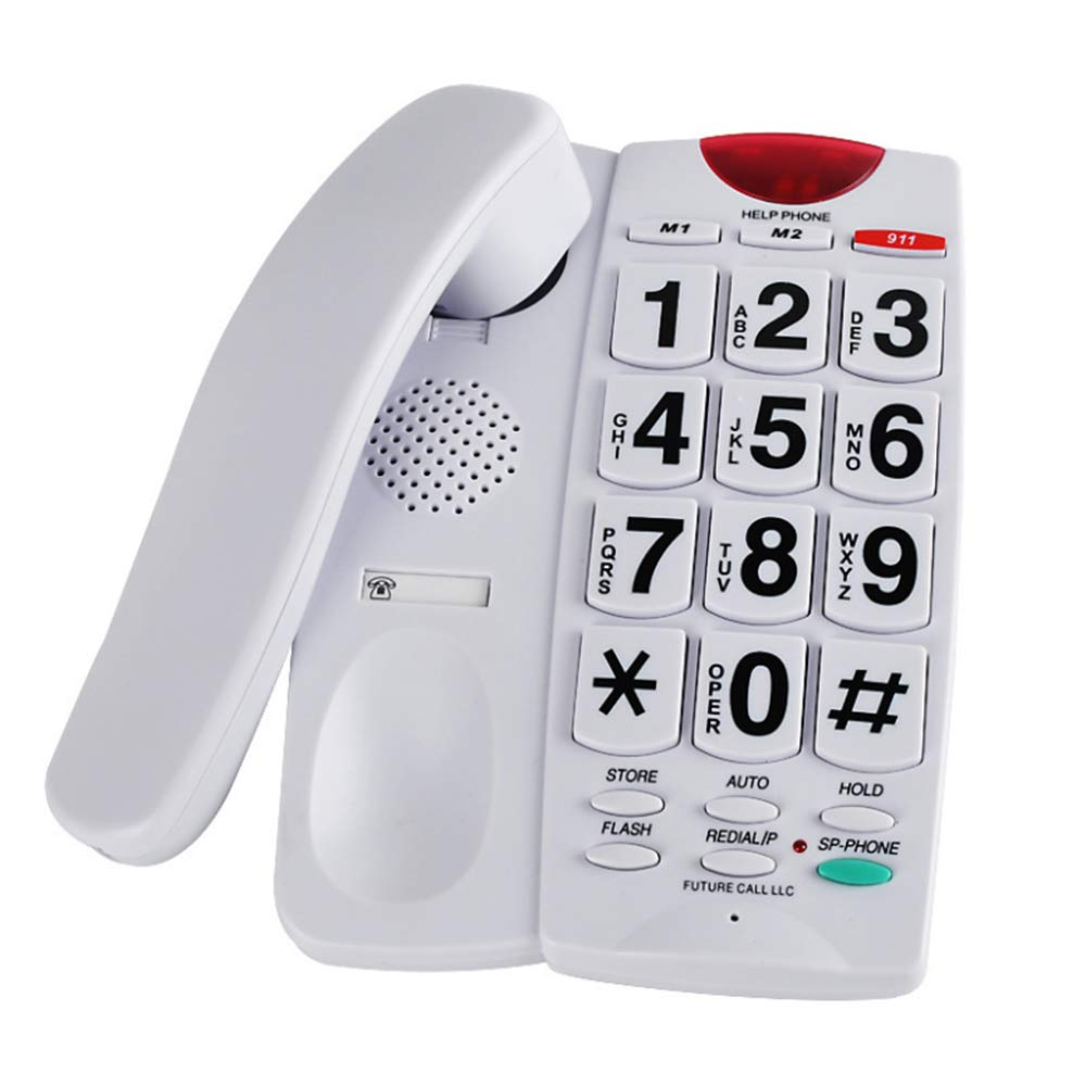 Telephone, Large Button, Old Man Machine, Electric Light, Dual Interface, Hands-Free Family, Old-Fashioned landline LEIGE HOME