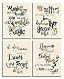 harry potter pictures - Harry Potter Art - Quotes and Sayings Art Prints   Set of Four Photos 8x10 Unframed   Unique Inspirational Harry Potter Wall Art - Great Gift for Harry Potter Fans