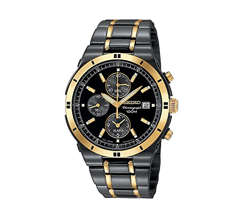 Seiko-Mens-Two-Tone-Chronograph-Dress-Watch