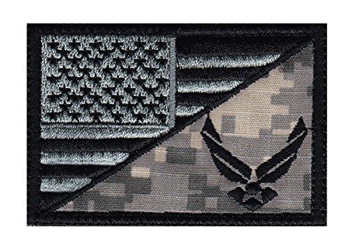Air Force US Flag Half Tactical Morale Hook+Loop Patch