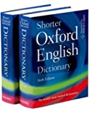 Shorter Oxford English Dictionary - Sixth Edition (set of 2 books)