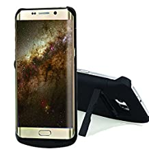 S6 edge Battery Case, NOVPEAK [U.S. Warranty] 4200mAh Portable Rechargeable Slim External Battery Backup Charger Case Power Bank Case Built-in Kickstand for Samsung Galaxy S6 edge G9250 (Black)
