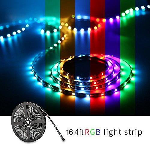 Led light strip, Nexlux Wifi Wireless Smart Phone Controlled Strip Light Kit 16.4ft 150leds 5050 ...