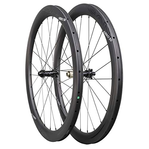 ICAN Carbon Wheels AERO 50 Road Bike Wheelset 50mm Clincher Tubeless Ready Disc Brake 12x100/12x142mm Only 1430g