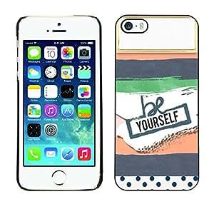 LASTONE PHONE CASE / Carcasa Funda Prima Delgada SLIM Casa Carcasa Funda Case Bandera Cover Armor Shell para Apple Iphone 5 / 5S / Cool Notebook Name Here Label Empty