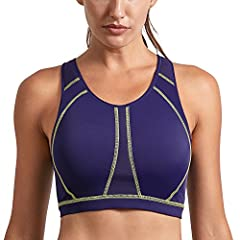 08264f6362efd SYROKAN Women s High Impact Padded Supportive Wirefree Full Coverage Sports  Bra