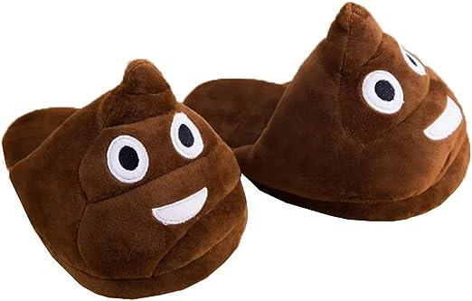 Slippers Emoji Poo Novelty Slippers
