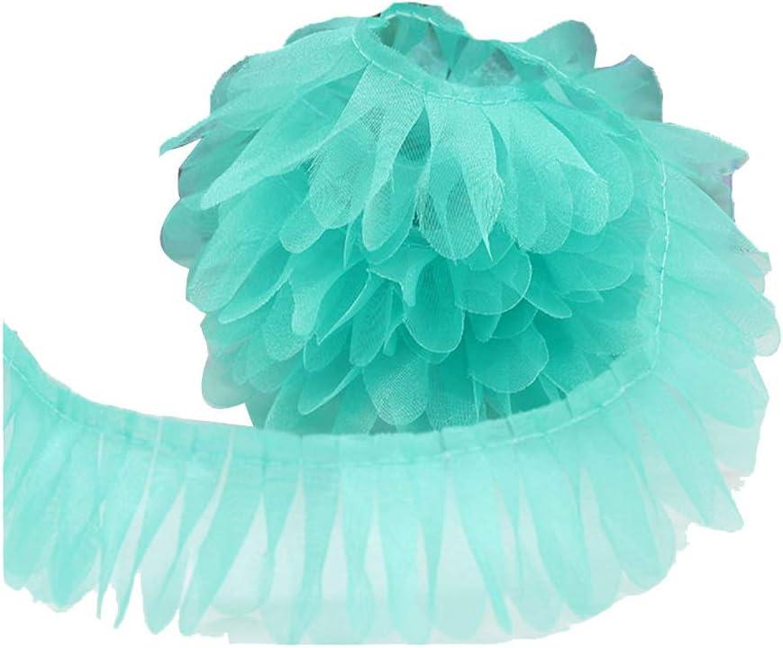 Light Pink ADAMAI Lace Tassel Trim Fringe Ribbon Garment Extender DIY Craft 21Yards