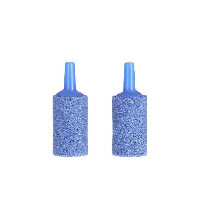 Anself - 2 Uds. 2,5m 4mm Tubería Suave de Oxígeno de Acuario + 2 Uds. Válvula de Parada + 6 Uds. Copa de Succión + 2 Uds. Piedra de Burbuja de Aire, ...