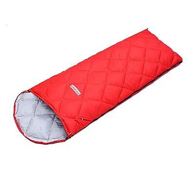Sac de couchage de voyage en plein air printemps et automne chaud enveloppe ultra-léger sauvage avec un chapeau sac de couchage de canard blanc peut être cousu dans un sac de couchage double