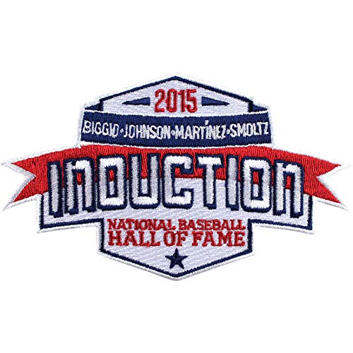 2015 National Baseball Hall of Fame Induction Patch Biggio Johnson Martinez