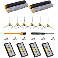 22PCS Replenishment Parts Kit for iRobot Roomba 980 960 900 800 801 805 860 870 880 890 Vacuum Cleaner - Roomba Accessories with 4 Hepa filters,6 Side Brushes,2 Pair Debris Extractors,Tools