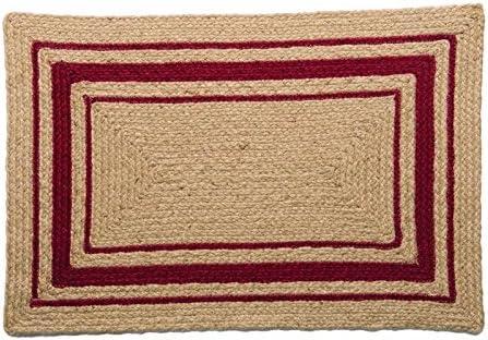 IHF Home Decor Cameron Braided Rug Rectangle Accent Area Floor Carpet Jute Natural Fiber