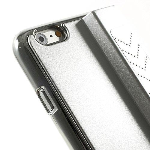 Apple iPhone 6/6S Étui Housse Case allume-cigare Argent decui Argent plastique rigide Coque