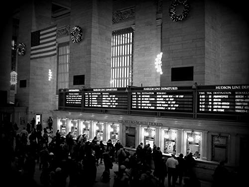 Home Comforts Peel-n-Stick Poster of NYC Terminal Grand Central Terminal Manhattan Vivid Imagery Poster 24 x 16 Adhesive Sticker Poster Print ()