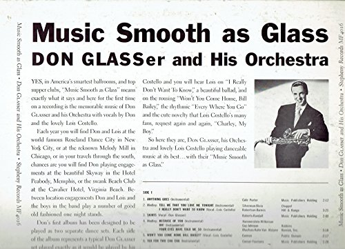 VINTAGE VINYL RECORD DON GLASSER AND HIS ORCHESTRA DANCE TO SMOOTH AS GLASS SIGNED,AUTOGRAPHED,STEPHENY RECORDS MINT - Ebay Vintage Glasses