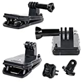DURAGADGET iON Air Pro 3 Portable Action Cam Clamp Mount - Durable Quick-Clip Jaw Clamp Mount with Straight Bolt Screw Connector PLUS Screw Thread Adaptor for iON Air Pro 3