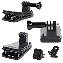 Quick-Clip Jaw Clamp Mount with Screw Thread Adapter for Eken H9 / Eken H9R - by DURAGADGET