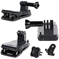 Quick-Clip Jaw Clamp Mount with Screw Thread Adapter for HILLPOW SJ8000 4K Wifi Action Sports videocamera - by DURAGADGET