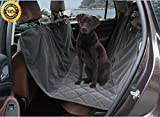 Cheap Microfiber Waterproof Dog Seat Covers For Pet Hammock Car Seat Protector Non Slip Silicone Backing, Dark Grey (Medium)