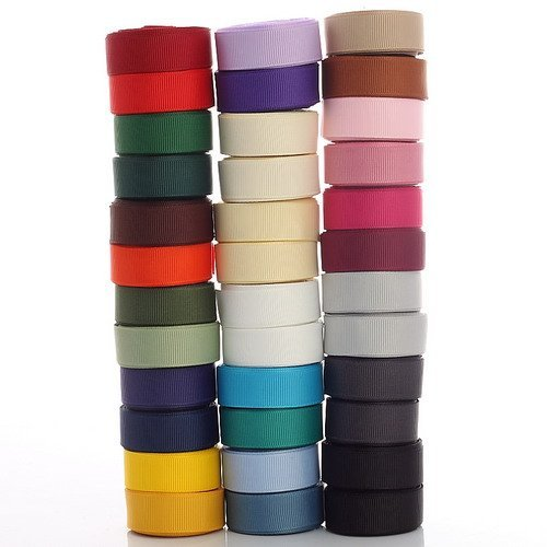 (Neotrims Petersham Grosgrain Ribbons for Crafts, 15mm, 18 or 36 Mix colours Pack. Unique Neotrims Gift Boxed in 18 colours or 36 colours Mix Or buy as Economy Version without the Box, Just The ribbons. Finest Grosgrain Ribbons by Neotrims. Great Gift Idea. Width of Trim is 1.5 cm.)