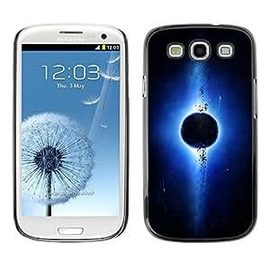 División De La Tierra - Metal de aluminio y de plástico duro Caja del teléfono - Negro - Samsung Galaxy S3