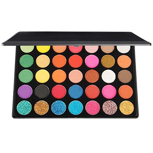 LandFox 35 Colors Matte Eyeshadow Cream Makeup Palette Shimm