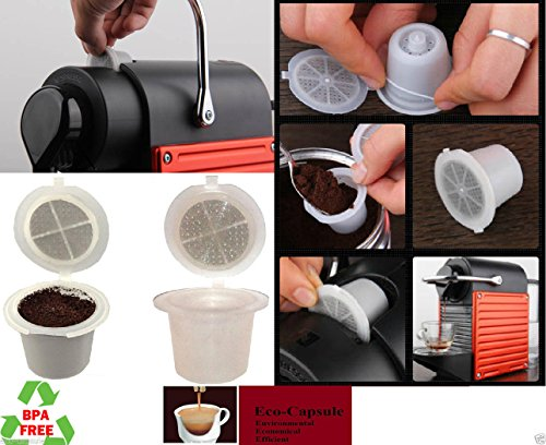 Refillable// Reusable Nespresso Capsule set Built In Stainless Steel Filter