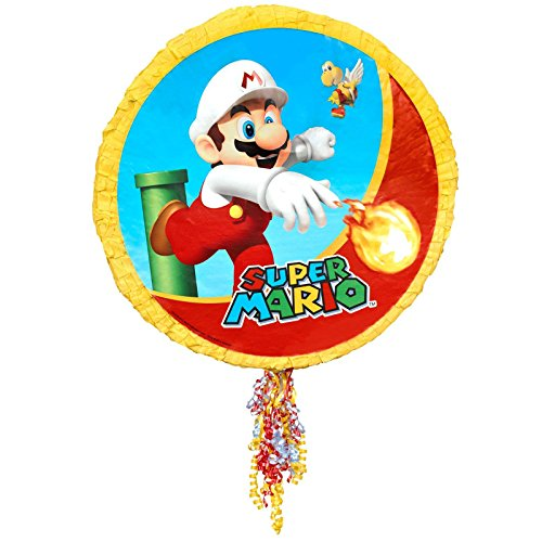BirthdayExpress Super Mario Party Pull-String Pinata